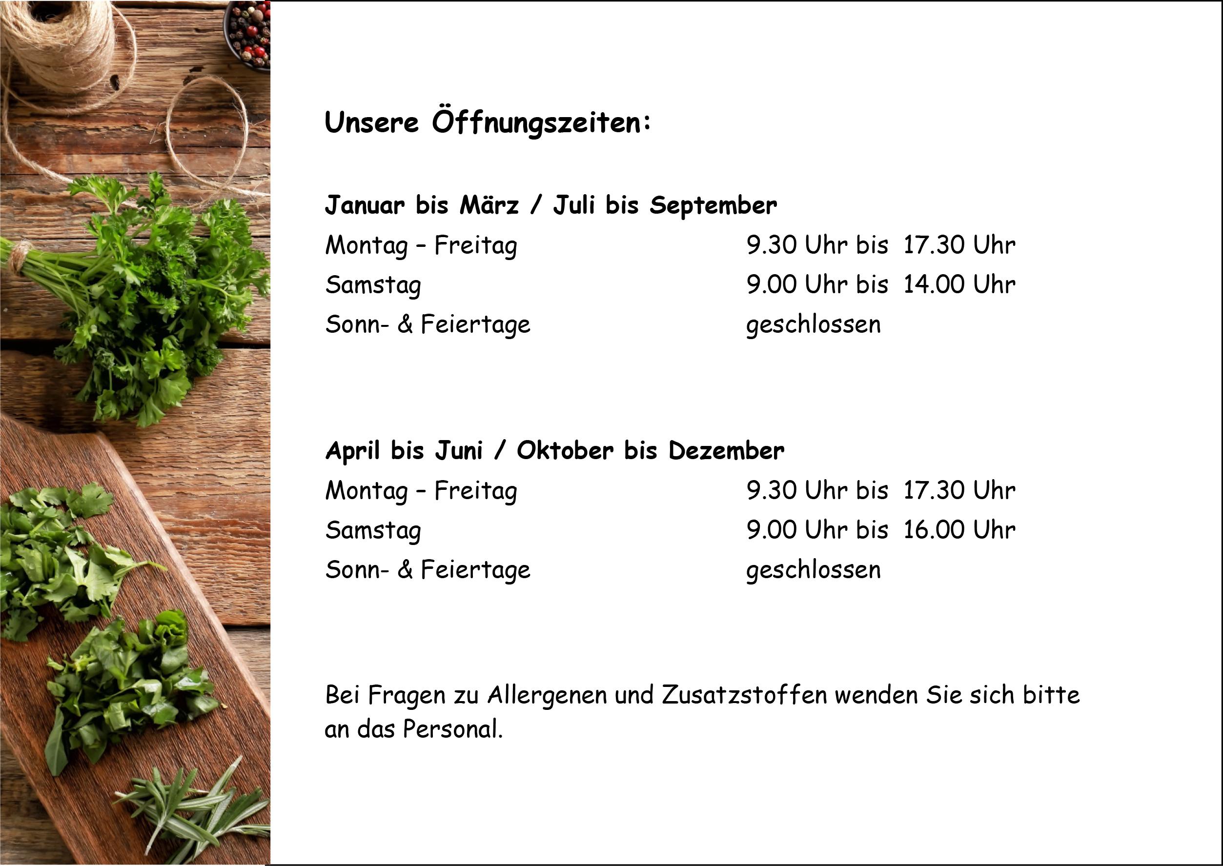Öffnungszeiten Café Appenweier